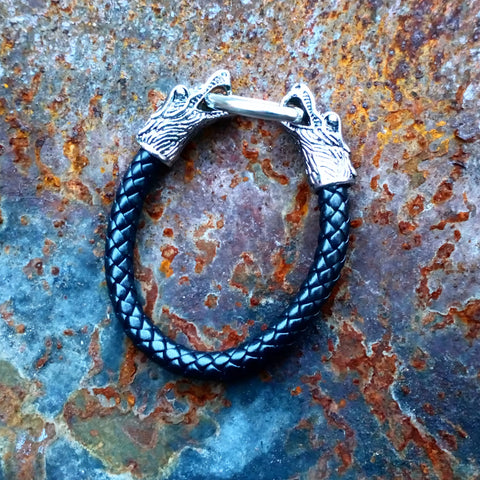 Dragon Headed Leather Wristband