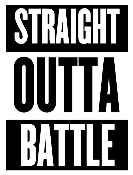 Straight Outta Battle Digital Download Poster
