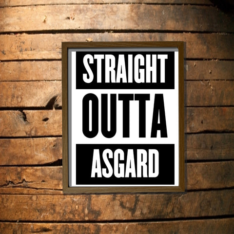 Straight Outta Asgard Digital Download Poster