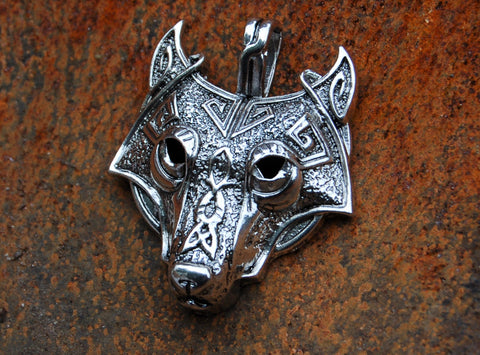 Silver Plated Fenrir/Wolf Pendant