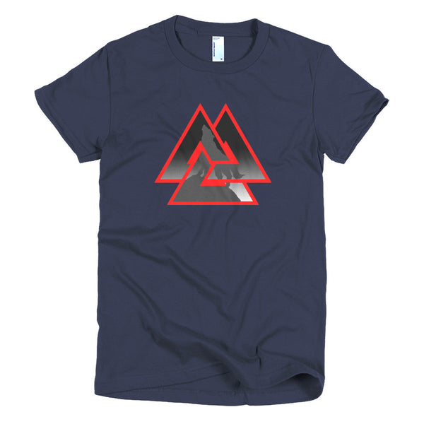 Wolf Valknut (Short sleeve women's t-shirt)