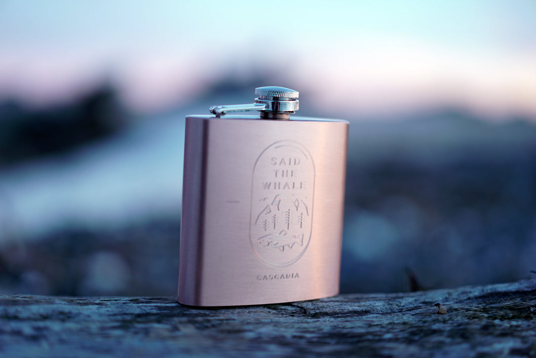 Brushed Copper Stainless Steel Cascadia 6oz Flask