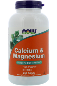 ˙Calcium & Magnesium 500/250mg 250 tablets (125 servings 1000/500mg)