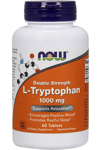 ˙L-Tryptophan Double Strength 60 tablets (60 servings 1000mg)