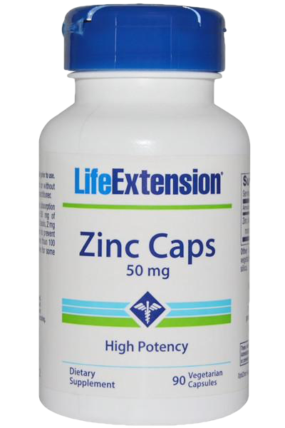 ZINC 50 MG HIGH POTENCY 90 vegetarian capsules/servings