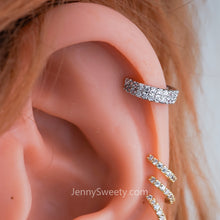 Sparkle Zircon Hoop Cartilage Helix Hoop Earring Conch earring Rook piercing