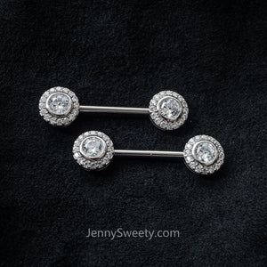 1 Piece Gold Zircon Nipple Ring Nipple barbell