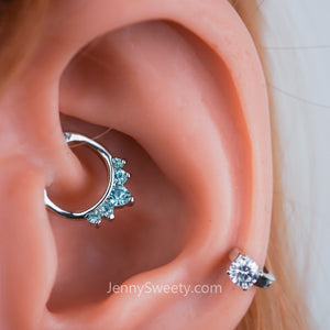 Sparkel Zircon Daith Earring Cartilage Septum Ring