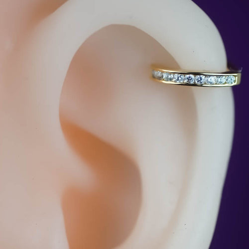 Zircon Helix Earring Hoop Cartilage Hoop Piercings