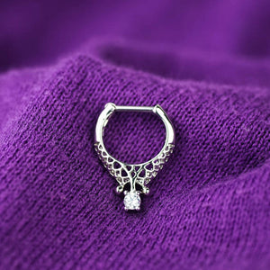 Zircon Septum Ring Daith Earrings daith Piercing