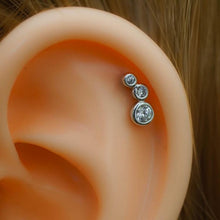 Trio Zircons Helix Cartilage Earring Helix Piercing