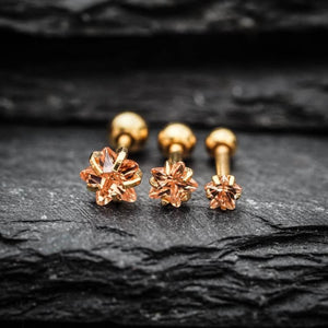 Yellow Star Zircon Triple Cartilage Piercings Tragus Earrings