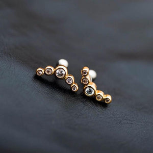 Gold 5 Zircons Helix Earring Cartilage Earring Cartilage Piercing Helix Earring Helix Piercing