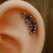 Flower Zircon Helix Earring Cartilage Earring Cartilage Piercing Helix Earring Helix Piercing