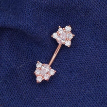 Double Triangle Zircon Belly Button Ring Belly Button Piercing flower Belly Rings Navel Rings