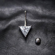 Triangle Zircon Belly Button Ring