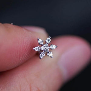 Snow Flake Zircon Helix Cartilage Earring Cartilage Piercing Helix Earring Helix piercing