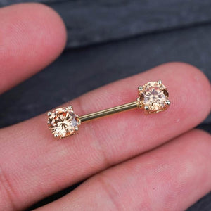 1 Piece Zircon Nipple Ring Nipple Barbells Nipple Jewelry Nipple Piercing