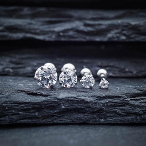Simple Zircon Triple Cartilage Piercings Tragus Earrings
