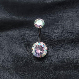 Double Rainbow Zircon Belly Button Ring