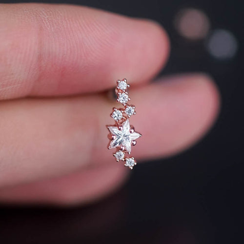 Stars Zircons Cartilage Earrings Cartilage Piercing Helix Earring helix piercing 20g