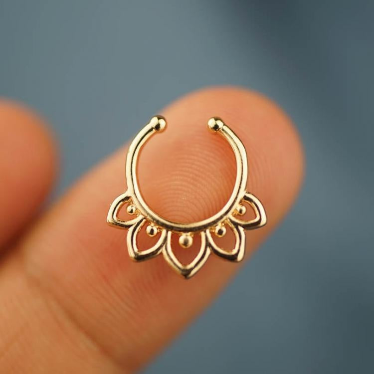 Unique Flower Septum Ring Nose Ring Body Jewelry Body Piercing