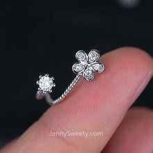 Sparkel Flower Zircon Helix Earring Cartilage Piercing