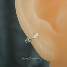 Sterling Silver Zircon Cartilage Helix Earrings Tragus Piercings