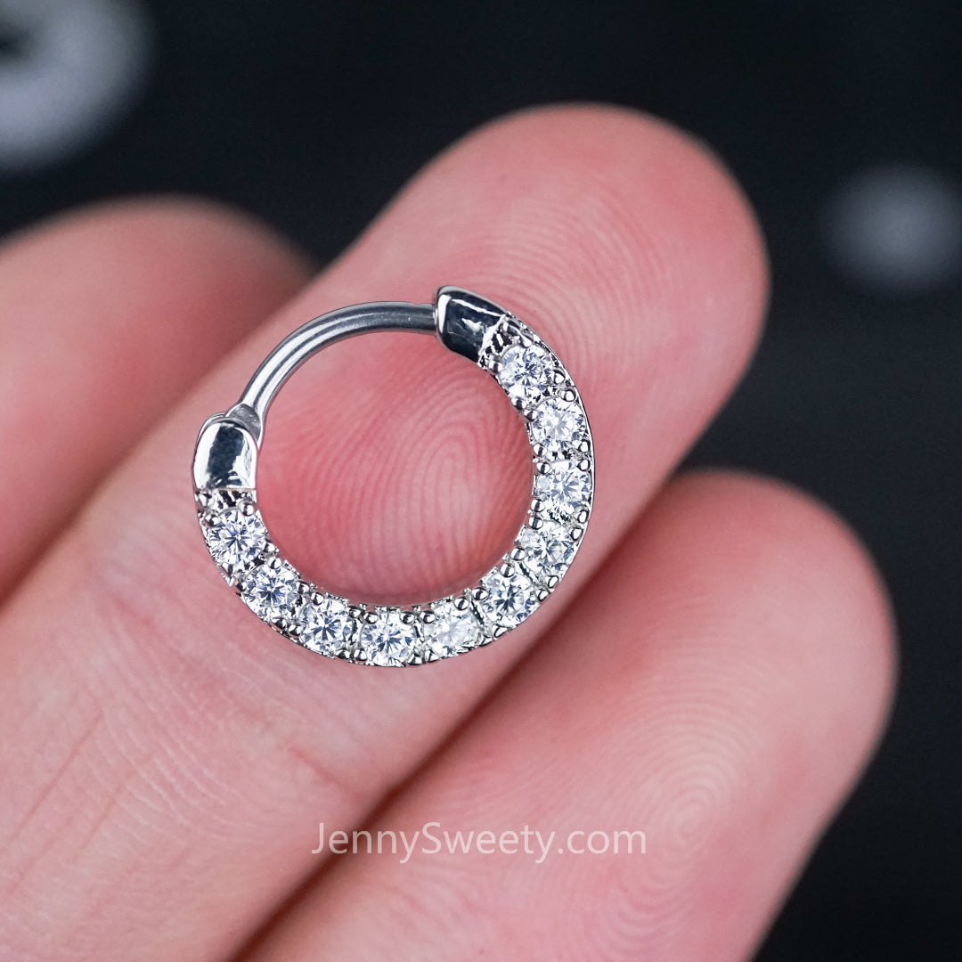 Sparkle Zircon Daith Earring Cartilage Septum Ring Hoop – JennySweety
