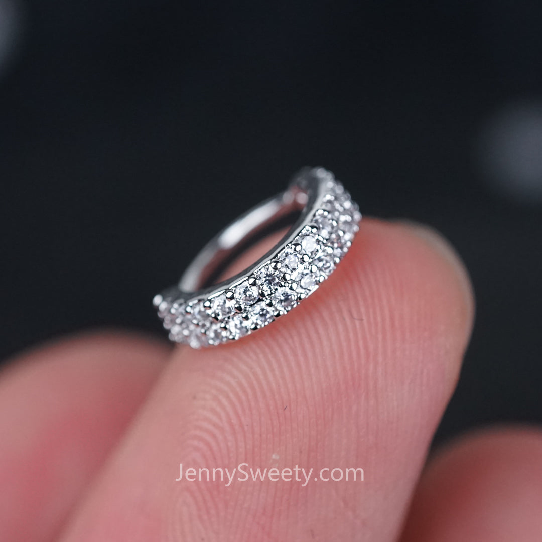 Sparkle Zircon Hoop Cartilage Helix Hoop Earring Conch earring Rook ...
