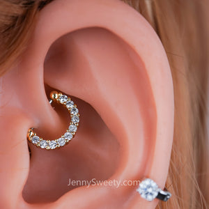 Classic Zircon Daith earring Cartilage Septum ring Hoop