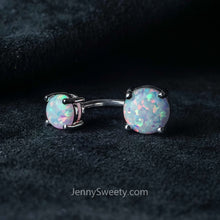 Prong Opal Belly Ring Belly Button Piercing