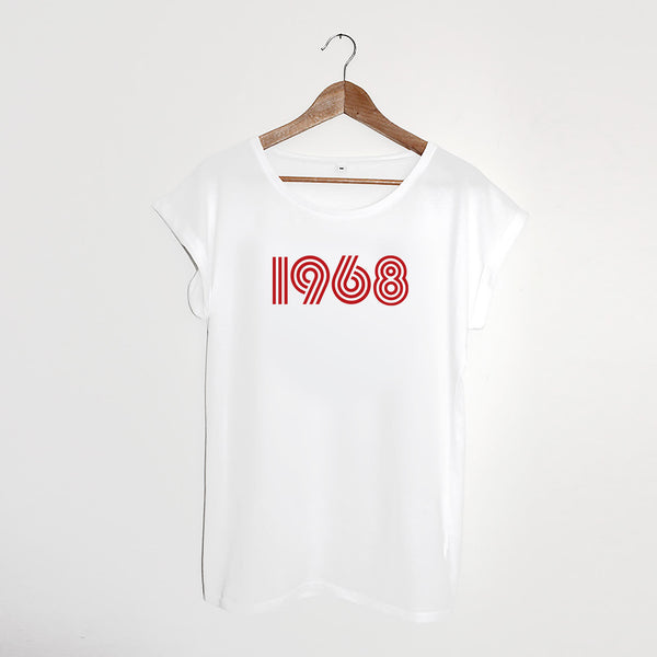 1968 White / Red Ladies T-shirt
