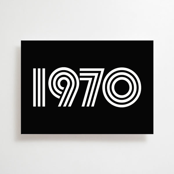 1970 Greetings Card Black / White