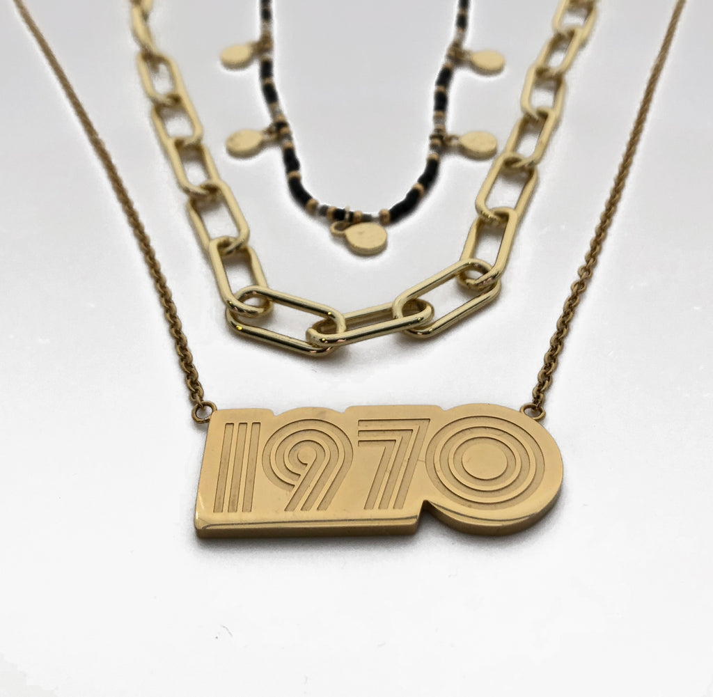 1970 Pendant 18kt Gold Plated