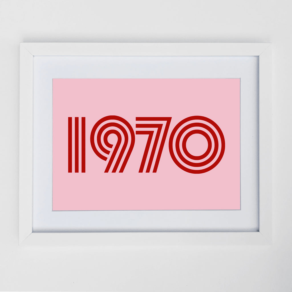 1970 Print Pink / Red