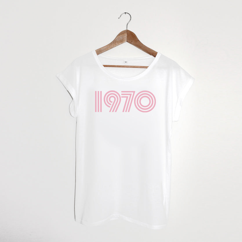 1970 White / Pink Ladies T-shirt