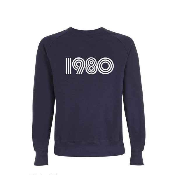1980 Mens Sweatshirt Navy xx L left xx