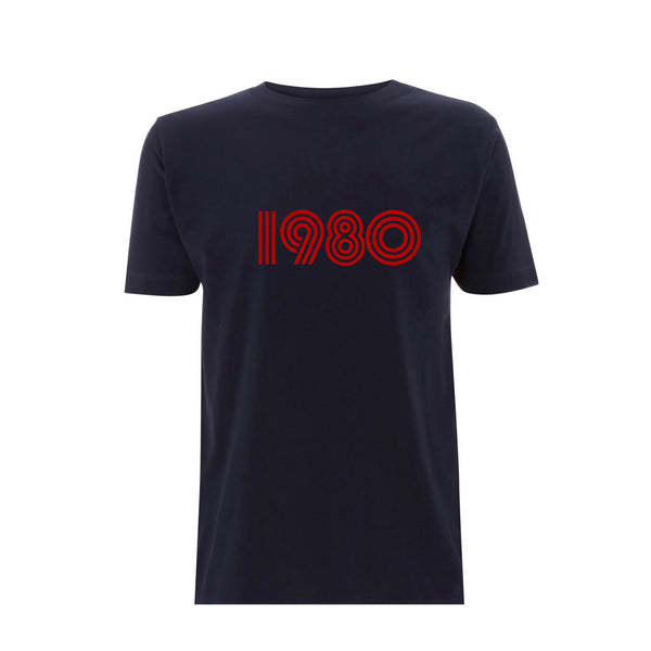 1980 Mens Tshirt Navy / Red