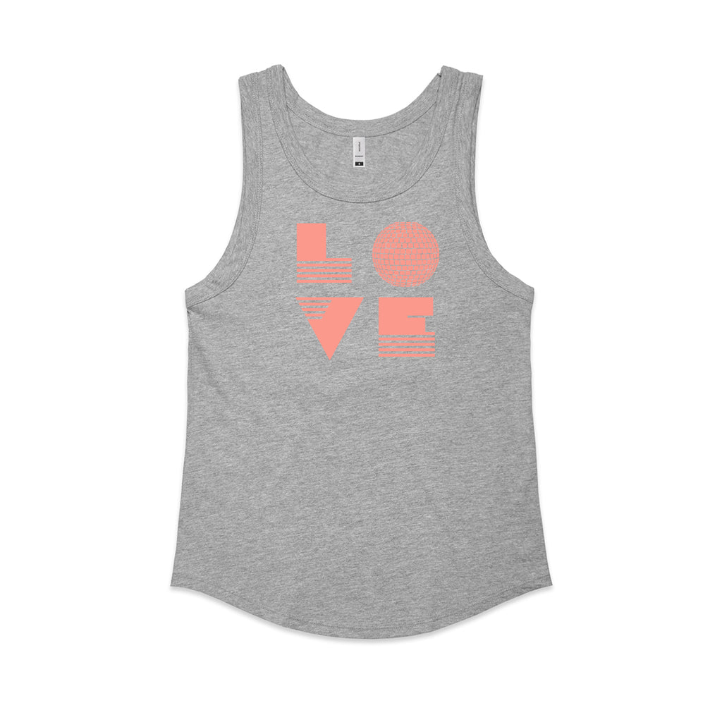Love Is Ladies Marl Grey Vest
