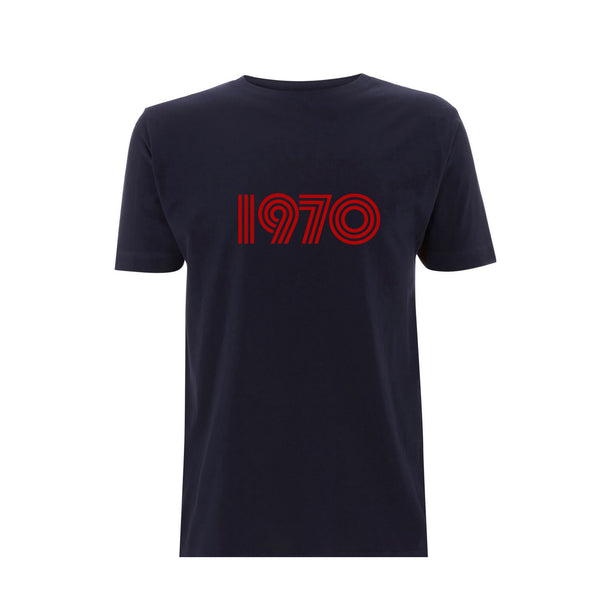 1970 Mens Tshirt Navy / Red