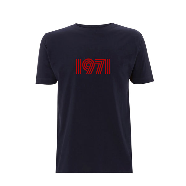 1971 Mens Tshirt Navy / Red