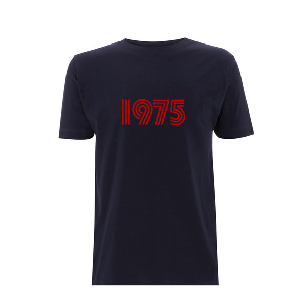 1975 Mens Tshirt Navy / Red