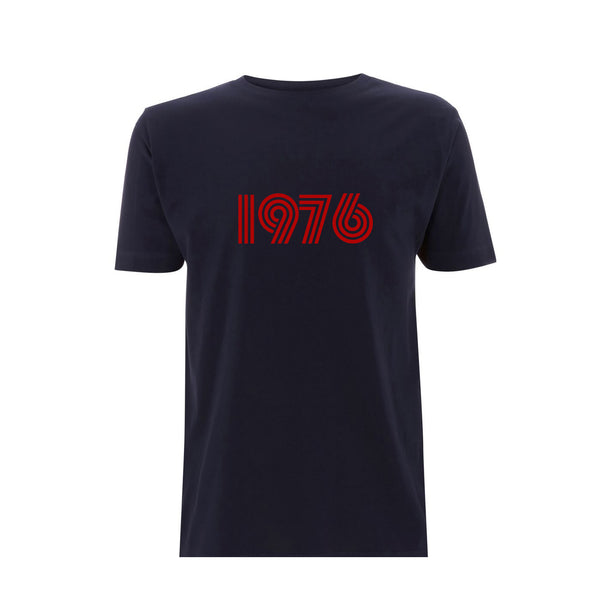 1976 Mens Tshirt Navy / Red