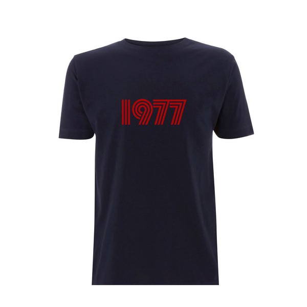 1977 Mens Tshirt Navy / Red