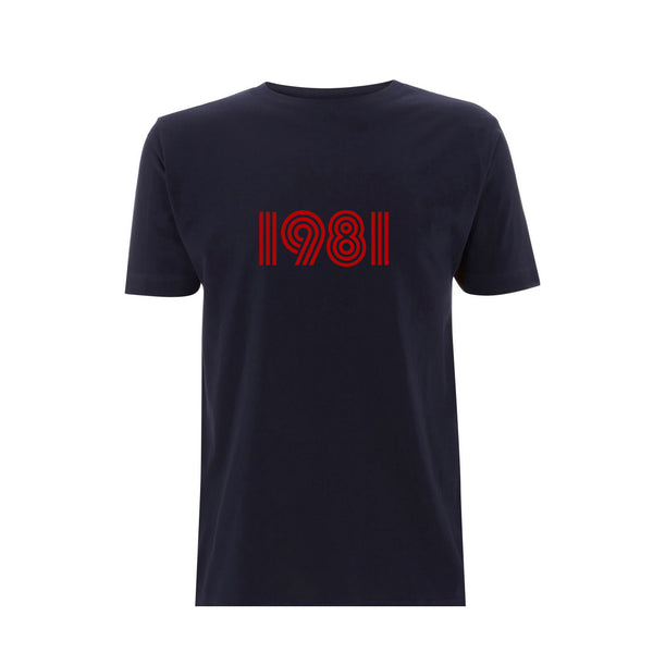 1981 Mens Tshirt Navy / Red