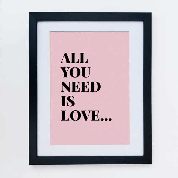 All You Need Is Love Print Pale Pink