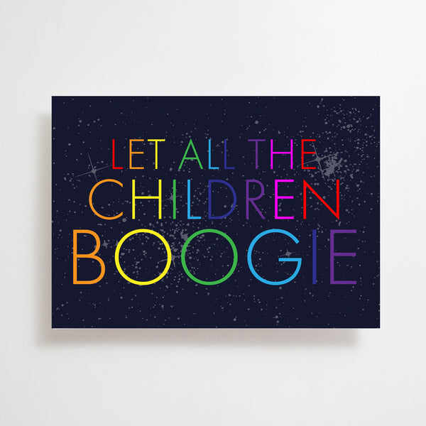 Let All The Children Boogie Greetings Card