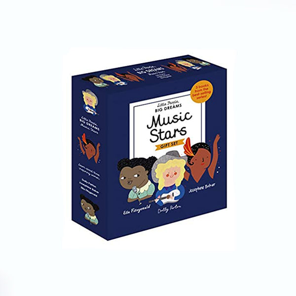 Little People Big Dreams Music Stars gift set of 3 books