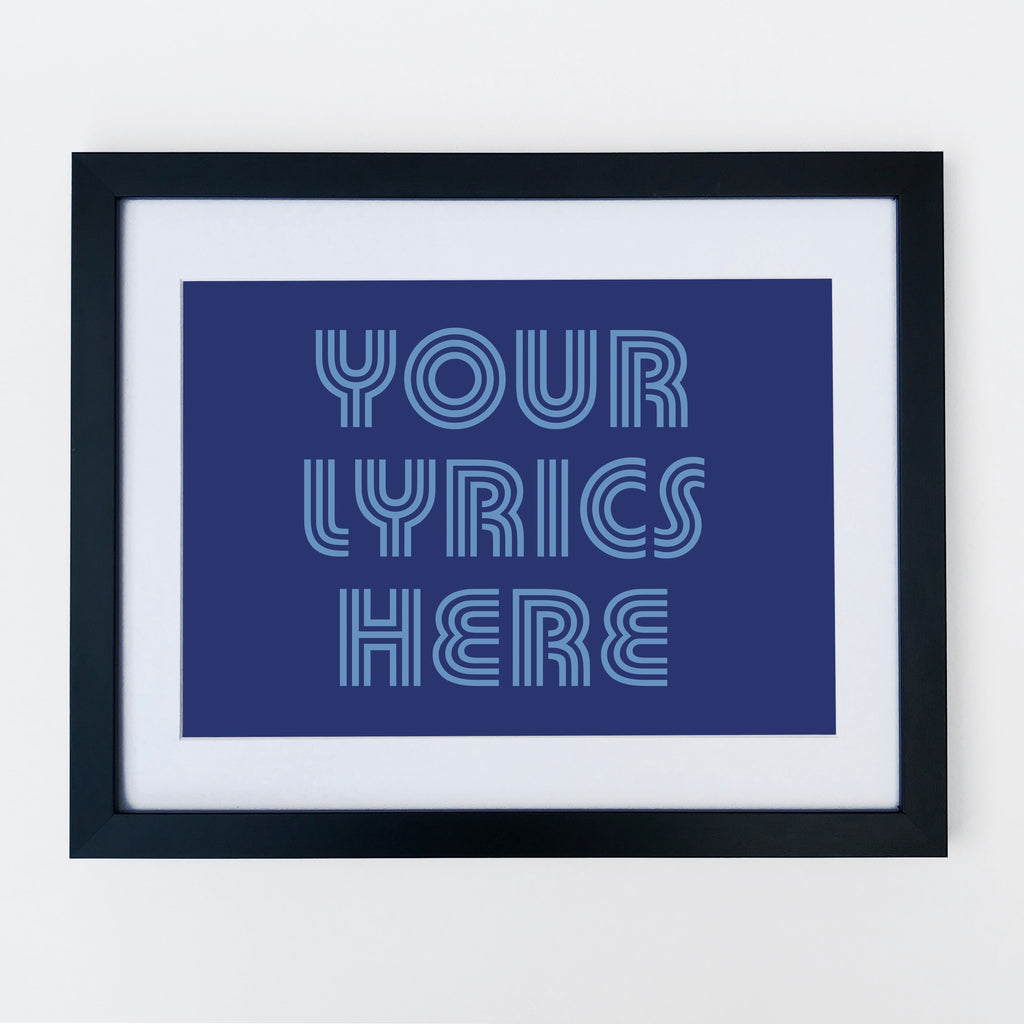 Custom Print Your Lyrics